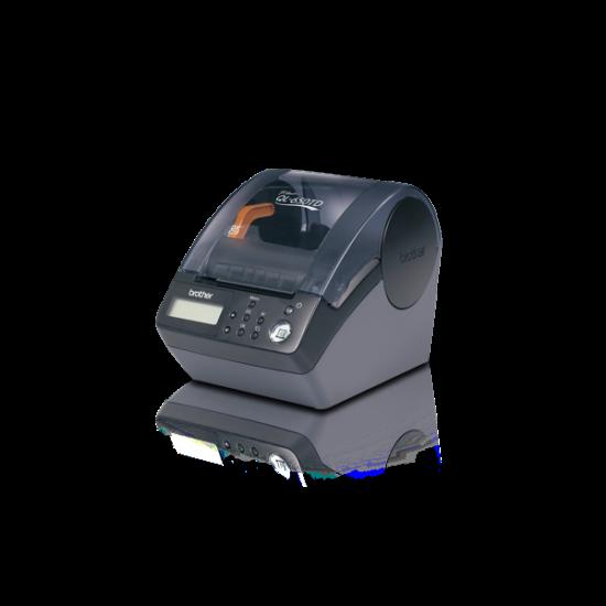 BROTHER Cimkenyomtató QL-650TD, asztali, thermál, 56 címke/perc, 90mm/mp, USB, 300dpi, LCD kijelző, DK címke
