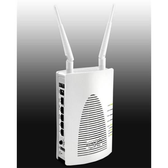 DRAYTEK Wireless AC Access Point Vigor AP902 300Mbps (POE) 5xLAN(1000Mbps)+USB(nyomtatónak)