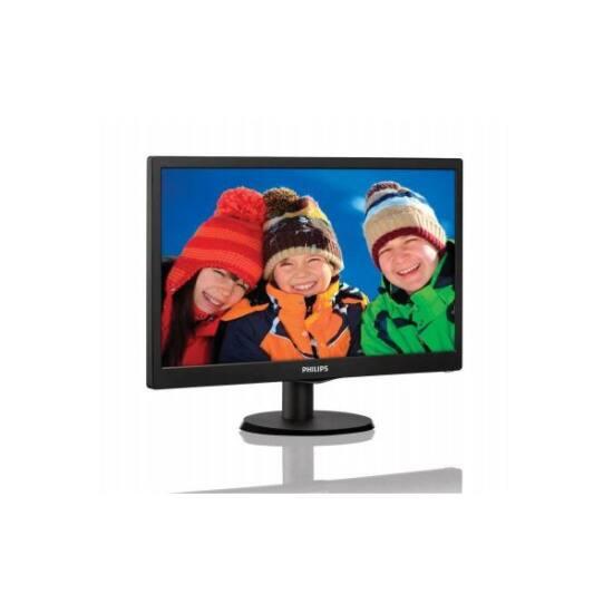 "Philips LED Monitor 18.5"", 193V5LSB2/10 1366x768, 16:9, 700:1, 200 cd/m2, 5ms, VGA, fekete"