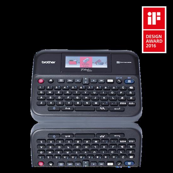 BROTHER Címkenyomtató PT-D600VP, asztali, TZe szalag: 3,5-24mm, automatikus vágóegység, színes grafikus kijelző