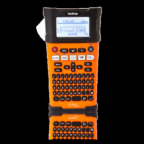 BROTHER Címkenyomtató PTE300VP, kézi (ipari), thermál, 20mm/mp, 180dpi, QWERTY billenytűzet, TZe/HGe szalag, LCD kijelző