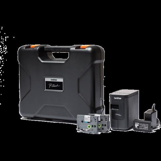 BROTHER Címkenyomtató PT-P750TDI, asztali, Plug&Play csatlakozás, 30mm/sec, TZe szalag: 3,5-24mm, WiFi/NFC/USB