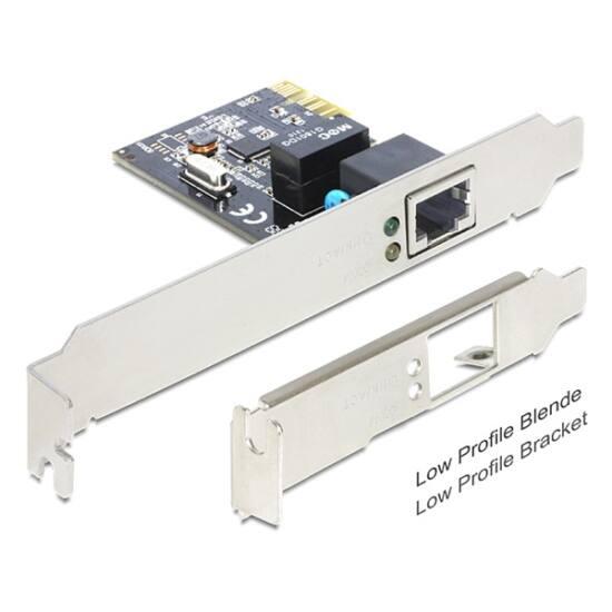 DELOCK PCI-E Vezetékes hálózati Adapter, 1x Gigabit LAN