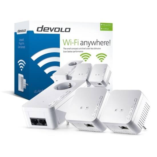 DEVOLO D 9645 DLAN 550 WiFi Network Kit Powerline