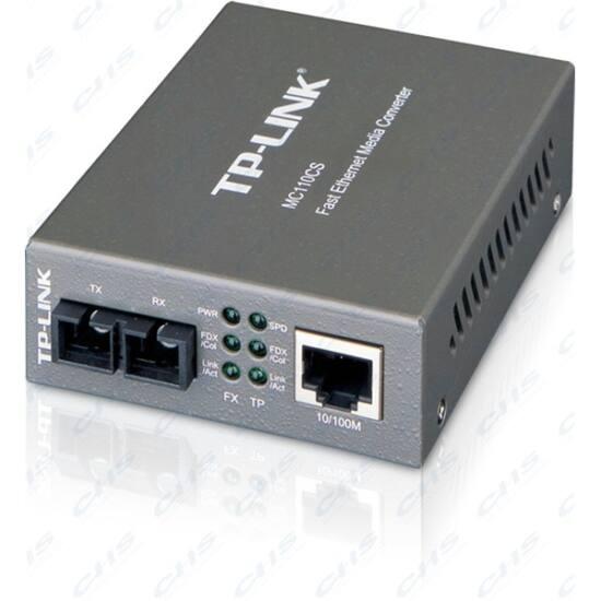TP-LINK Optikai Media Konverter 100(réz)-100FX(SC) Single mód, MC110CS