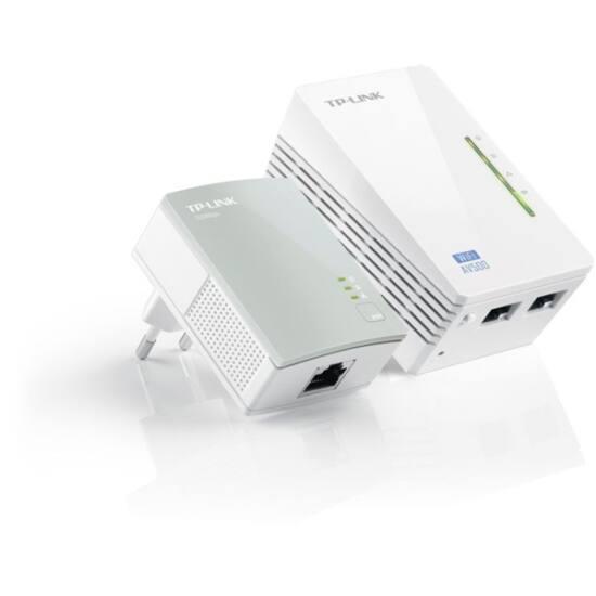 TP-LINK Powerline AV500 2x100Mbps + Wireless N-es 300Mbps, WPA4220 KIT