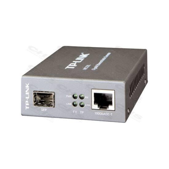 TP-LINK Optikai Media Konverter 1000(réz)-1000FX(LC) Single/Multi mód, MC220L