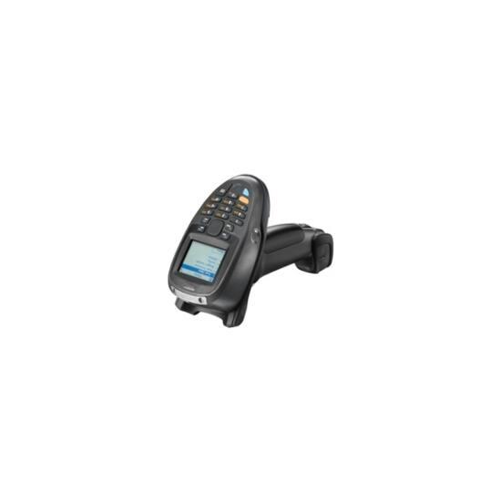 ZEBRA Bluetooth vonalkód olvasó, vezeték nélküli, MT2070, BT, 1D, SR, num., disp., kit(USB), fekete