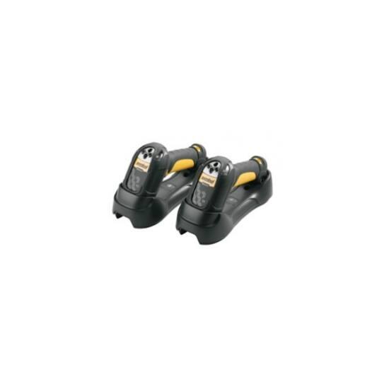 ZEBRA vonalkód olvasó LS3578, BT, 1D, LR, kit (RS232), fekete, sárga