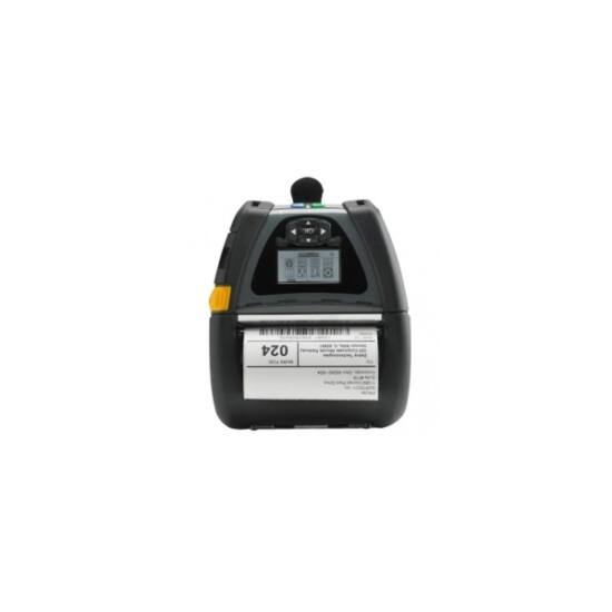 Zebra cimkenyomtató, QLn420, USB, RS232, BT, NFC, (203 dpi), DT, linerless, RTC, kijelző, ZPL, CPCL