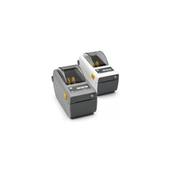 Zebra cimkenyomtató, ZD410, (203 dpi), DT, MS, RTC, EPLII, ZPLII, USB, BT (BLE, 4.1), Wi-Fi, fehér