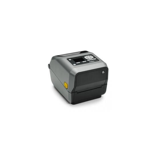 Zebra cimkenyomtató, ZD620d Healthcare, (300 dpi), DT, cutter, RTC, kijelző, EPLII, ZPLII, USB, RS232, Ethernet, fehér