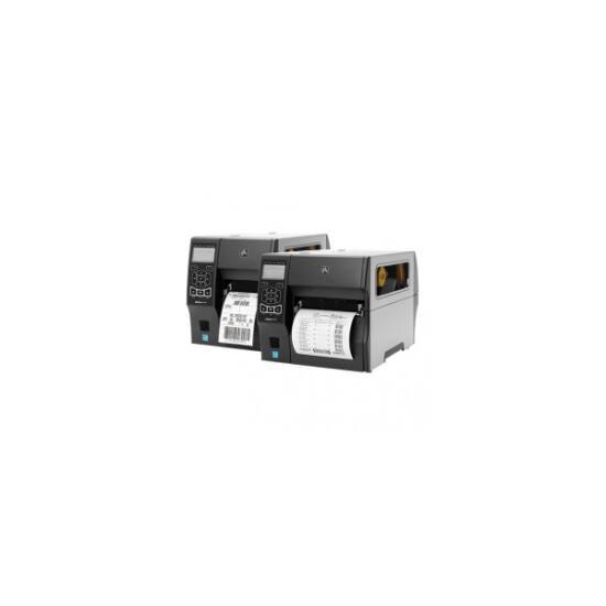Zebra cimkenyomtató, ZT410, (300 dpi), TT, cimke leválasztó, vissza csévélő, RTC, kijelző, EPL, ZPL, ZPLII, USB, RS232,